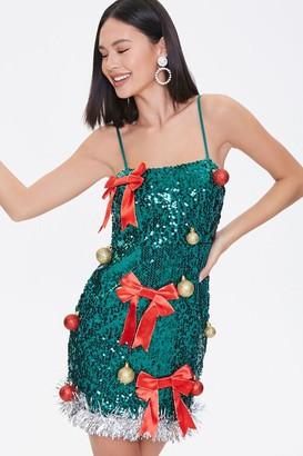 Forever 21 Sequin Christmas Tree Dress