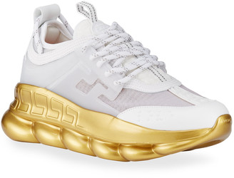 Versace Men's Chain Reaction Two-Tone Cage Sneakers