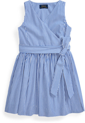 Ralph Lauren Striped Cotton Wrap Dress