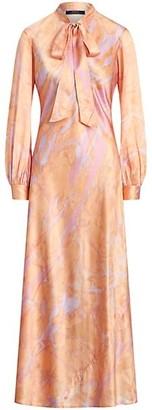 Polo Ralph Lauren Rily Long-Sleeve Silk Dress