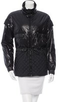 Chanel Quilted Leather-Trimmed Jacket