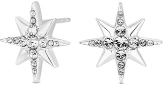 Simply Silver Sterling Silver 925 Swarovski North Star Stud Earrings
