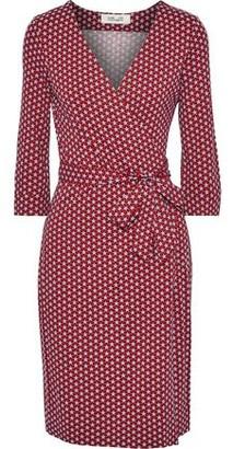 Diane von Furstenberg Printed Stretch-jersey Wrap Dress