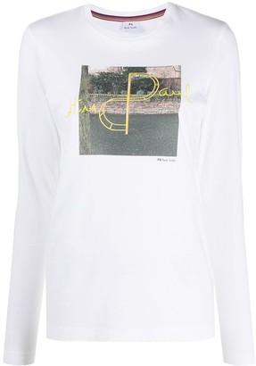 Paul Smith long sleeve printed T-shirt