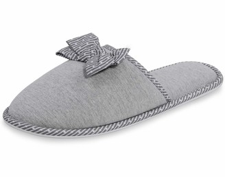 MIXIN Womens Breathable Slippers Anti-Skid House Indoor Shoes Grey Size UK 5 6