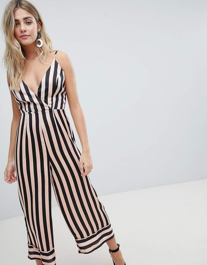 Missguided Cami Stripe Culotte Jumpsuit