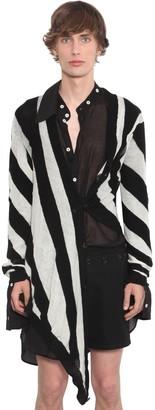 Ann Demeulemeester Asymmetric Light Knit Wool Cardigan