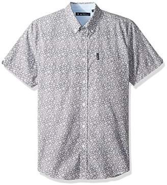 Ben Sherman Men's Floral Gingham Shirt