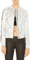 Alo Yoga Idol Metallic Quilted Bomber Jacket