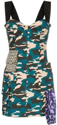 Natasha Zinko Camo print bustier mini dress
