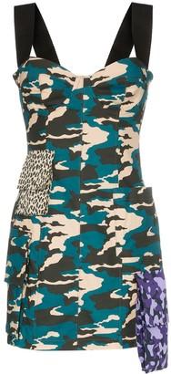Natasha Zinko Camo print bustier mini dress