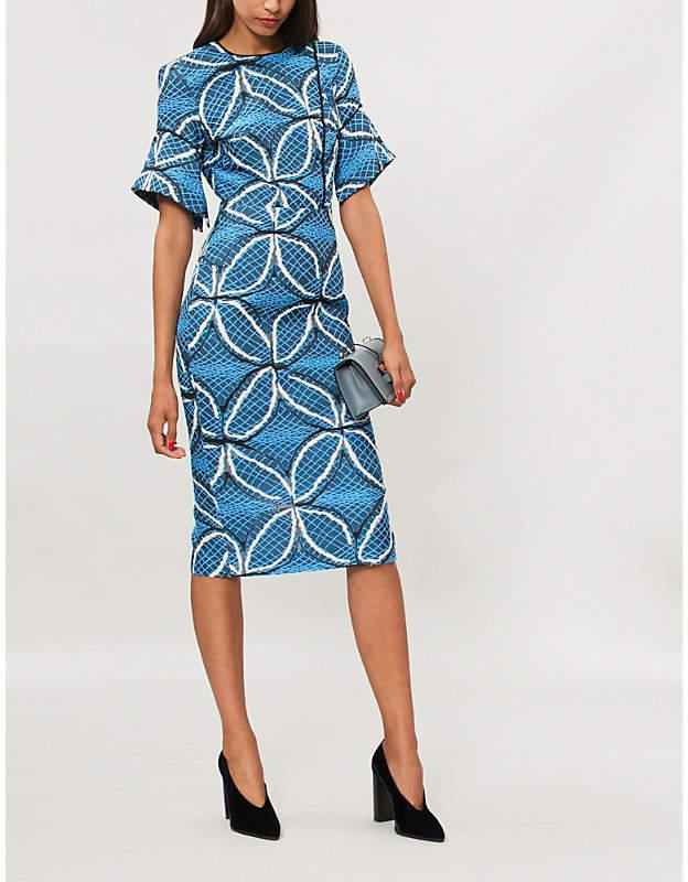 Roland Mouret Bancroft jacquard-knit midi dress