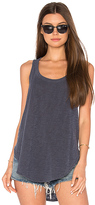 Wilt Shrunken Shirttail Tank in Navy