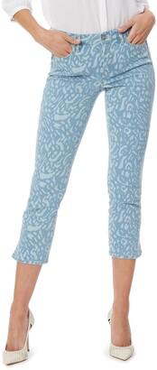 NYDJ Chloe Print Capri Jeans