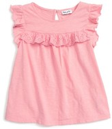 Splendid Toddler Girl's Eyelet Ruffle Tee