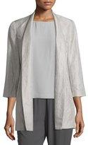 Eileen Fisher Mirage 3/4-Sleeve Jacket, Plus Size