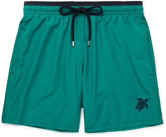 Vilebrequin Mokami Slim-Fit Mid-Length Embroidered Swim Shorts
