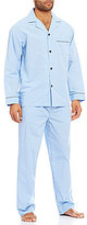 Roundtree & Yorke Long-Sleeve Mini Check Pajama Set