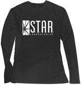 Sarah Women's Star Labs - The Flash Captain TV Laboratories Labs Logo Comics DT Long Sleeve T-shirt M