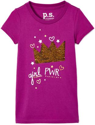 Aeropostale p.s. from Girls' Tee Shirts PURMD - Purple 'Girl Pwr' Crewneck Tee - Girls