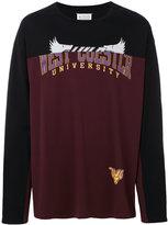 Maison Margiela spliced varsity sweatshirt - men - Cotton - 50