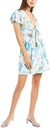 Aiden Tie-Front Mini Dress