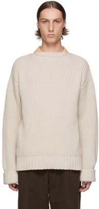 Marni Off-White Cashmere Costa Inglese Sweater