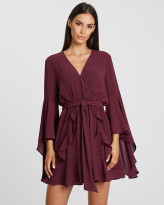 Tussah Harper Plunge Mini Dress