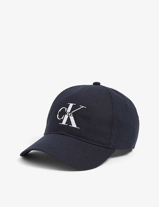 Calvin Klein Monogram logo-embroidered cotton baseball cap