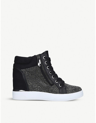 Aldo Ailanna stud-embellished wedge trainers