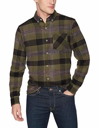 Original Penguin Men's Long Sleeve Plaid Flannel Button Down Shirt