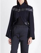 Comme des Garcons Panel-detail wool jacket