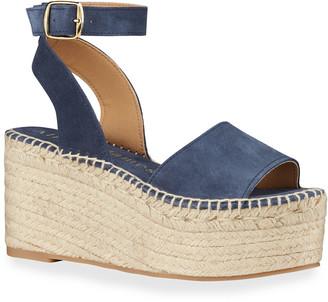 Allegra James Margie Suede Platform Espadrille Sandals