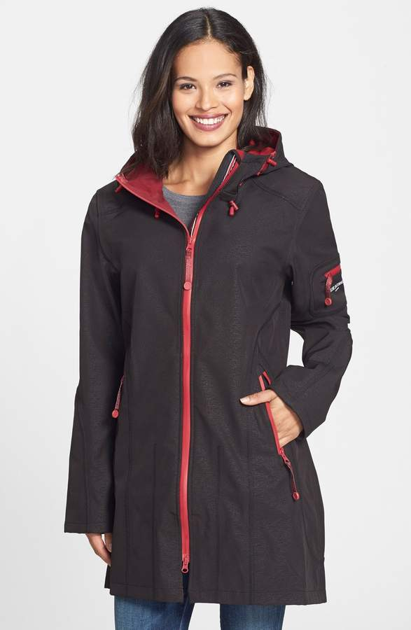 Ilse Jacobsen 'Rain 7B' Hooded Water Resistant Coat