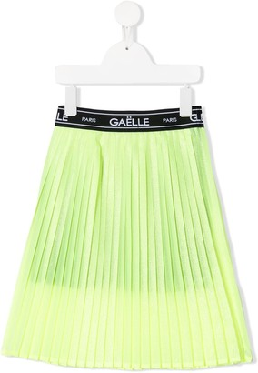 Gaelle Paris Kids Logo Waistband Skirt