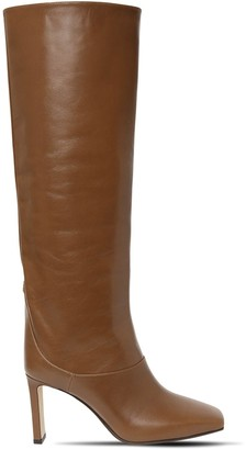 Jimmy Choo 85mm Mahesa Leather Tall Boots