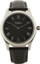 Ole Mathiesen MEN'S WATCH WITH LEATHER STRAP