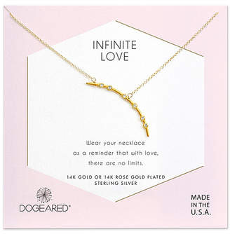 Dogeared 14K Over Silver Crystal Necklace