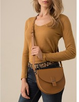 Somewhere Woman's grained leather messenger bag, HLOBO