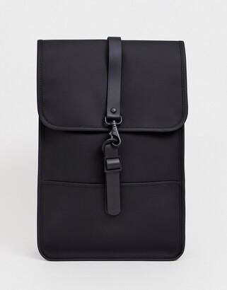 Rains 1280 mini waterproof backpack in black