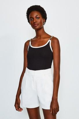 Karen Millen Chain Shoulder Ponte Vest