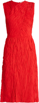 Nina Ricci Crinkle-effect sleeveless dress
