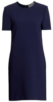 Carolina Herrera Crepe Short-Sleeve Shift Dress