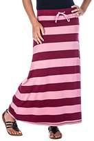 Noble Mount Womens Cool Knit Maxi Skirt - Plum/Rose