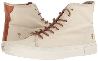 Frye Ludlow High (Off-White Canvas) Men's Lace up casual Shoes