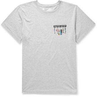 Pasadena Leisure Club Fishing Printed Melange Cotton-Jersey T-Shirt