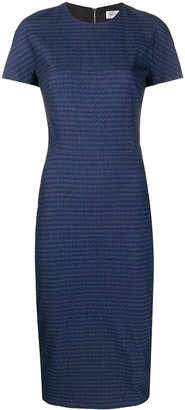 Victoria Beckham Striped Fitted Dress