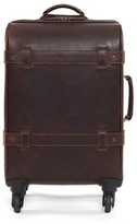 Moore & Giles Parker Leather Wheeled Suitcase - Brown