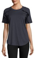 Burberry Tamega Frill-Detail Short-Sleeve Top