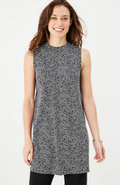 J. Jill Wearever Printed Mock-Neck Sleeveless Tunic